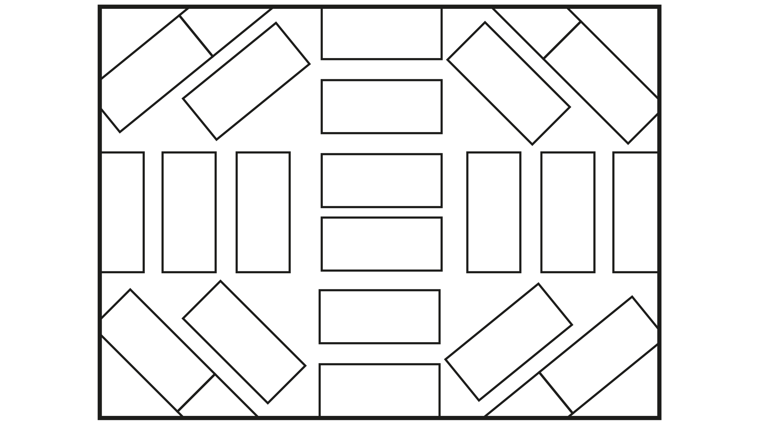 Mixed form around intersections formed by blocks of apartments without central squares.